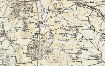 Old map of Ashdown Copse in 1897-1899