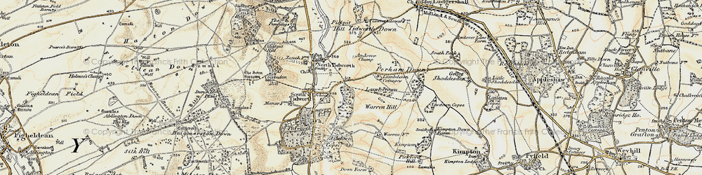 Old map of Tidworth in 1897-1899