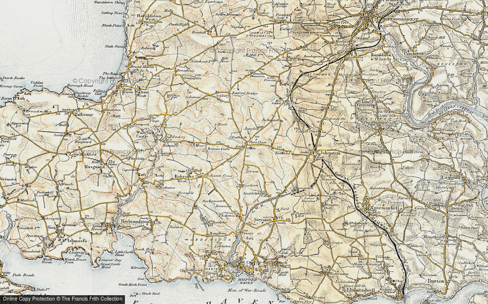Old Map of Historic Map covering Tierson in 1901-1912