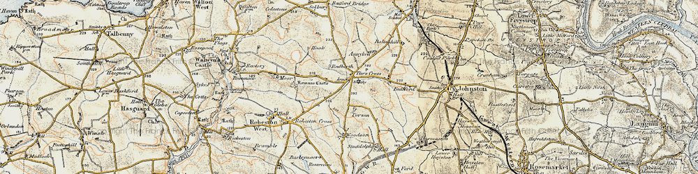 Old map of Tierson in 1901-1912