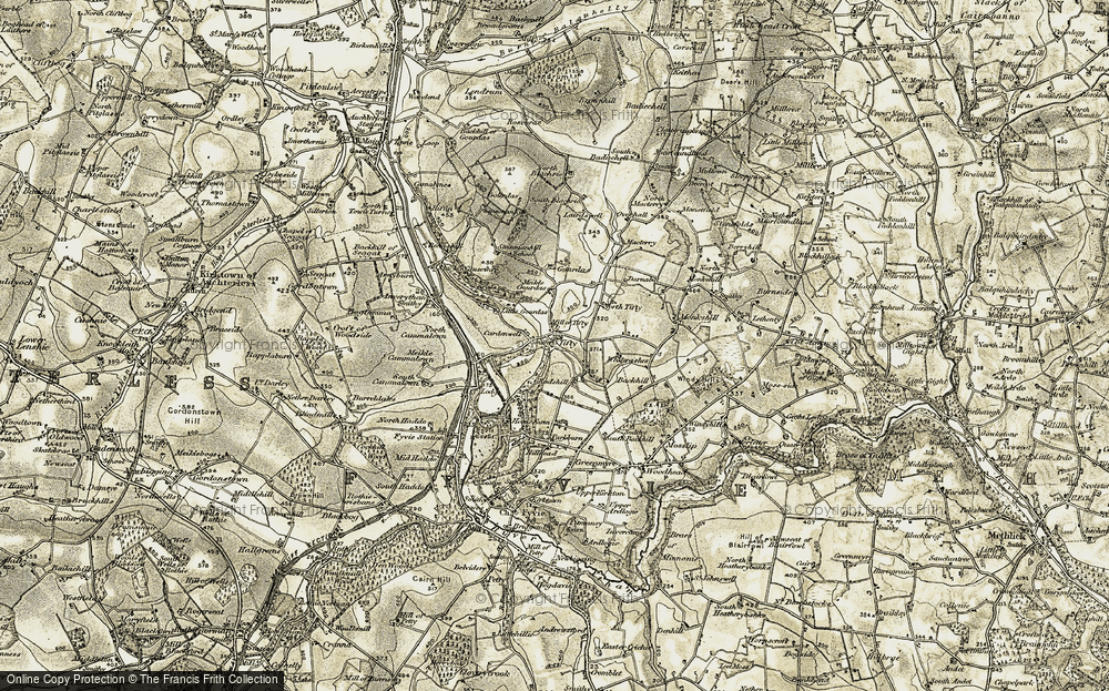 Old Map of Tifty, 1909-1910 in 1909-1910