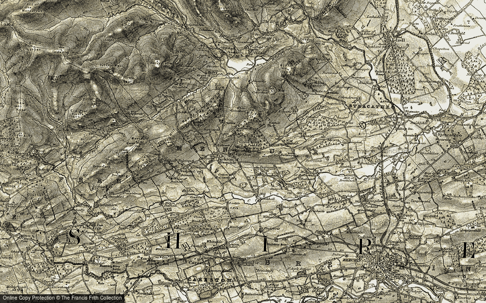 Old Map of Tigerton, 1907-1908 in 1907-1908