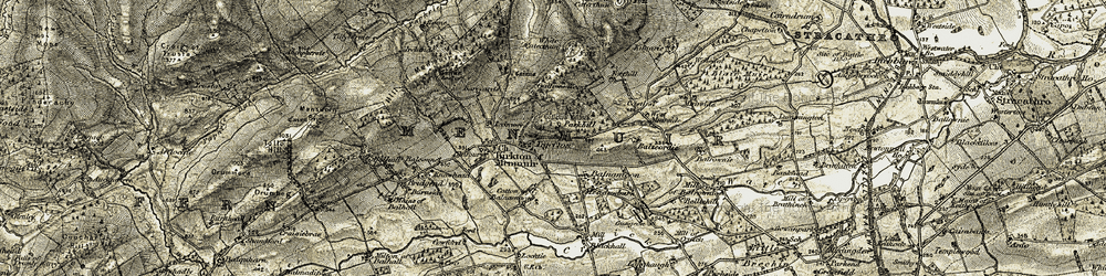 Old map of Tigerton in 1907-1908