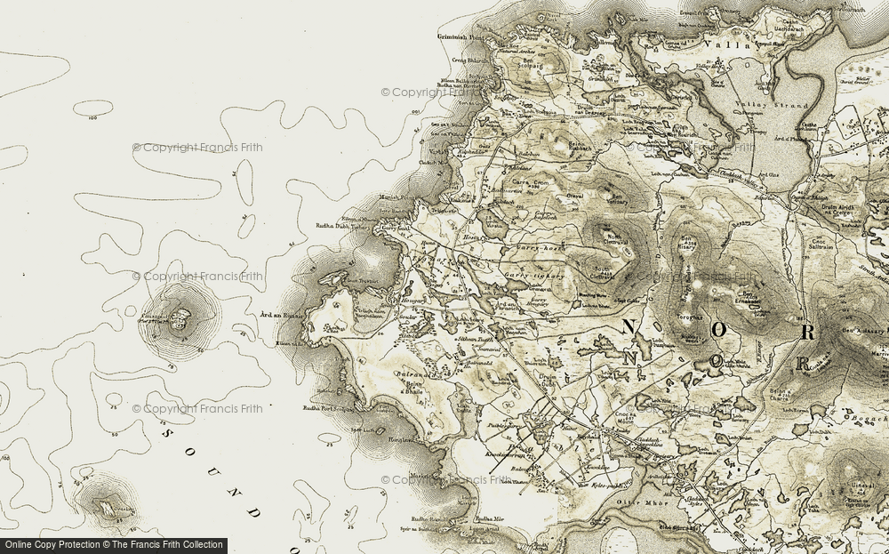 Old Map of Tigh a' Ghearraidh, 1911 in 1911