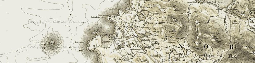 Old map of Tigh a' Ghearraidh in 1911