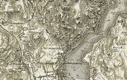 Old map of Tighnabruaich in 1905-1907