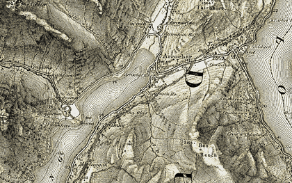 Old map of Tighness in 1905-1907