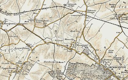 Old map of Tilbrook Bushes in 1901