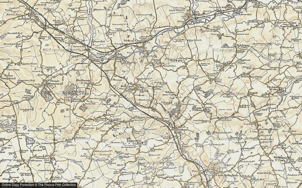 Old Map of Tilbury Green, 1898-1901 in 1898-1901