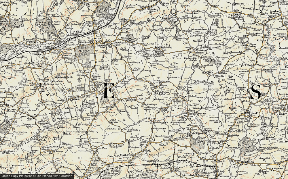 Old Map of Tilegate Green, 1898 in 1898