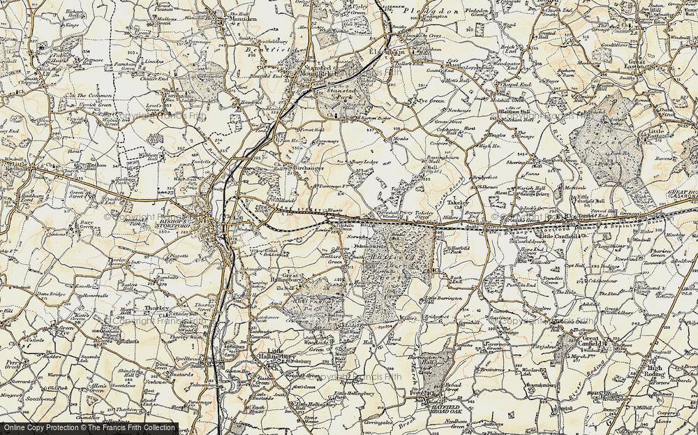 Old Map of Tilekiln Green, 1898-1899 in 1898-1899
