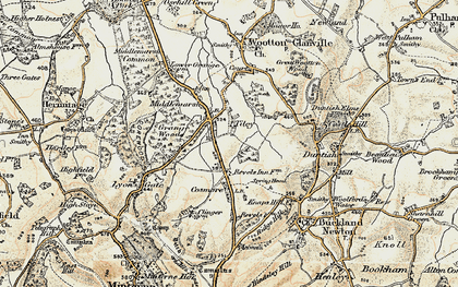 Old map of Tiley in 1899