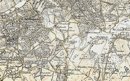Old map of Tilhill Ho in 1897-1909