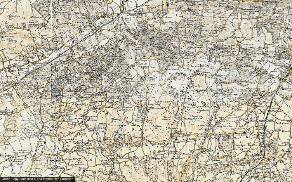 Old Map of Tilford Common, 1897-1909 in 1897-1909