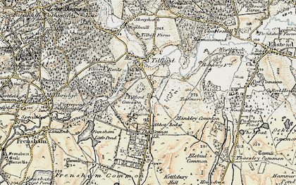 Old map of Yagden Hill in 1897-1909