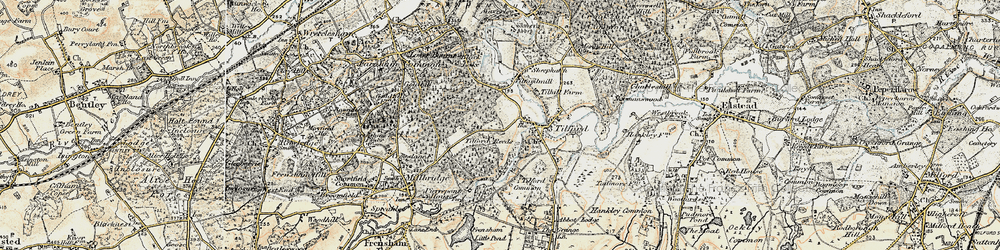 Old map of Tilford Reeds in 1897-1909