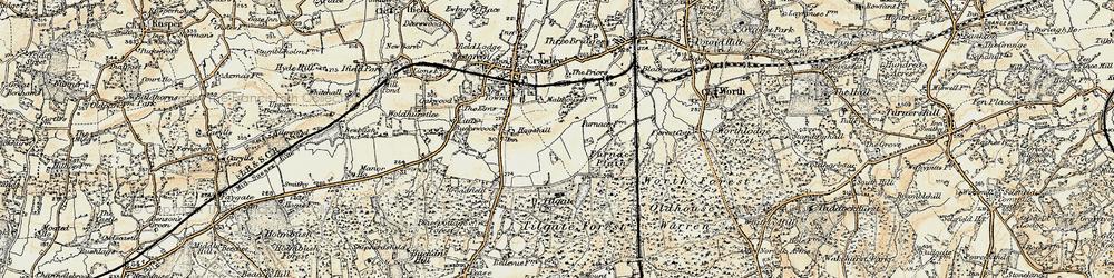Old map of Tilgate in 1898-1909