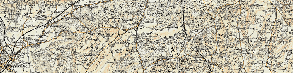 Old map of Tilgate Forest Row in 1898