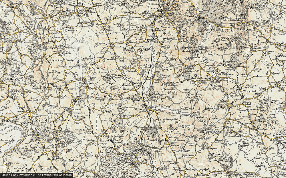 Old Map of Tillers' Green, 1899-1900 in 1899-1900