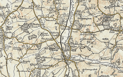 Old map of Tillers' Green in 1899-1900