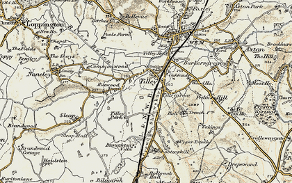 Old map of Tilley in 1902