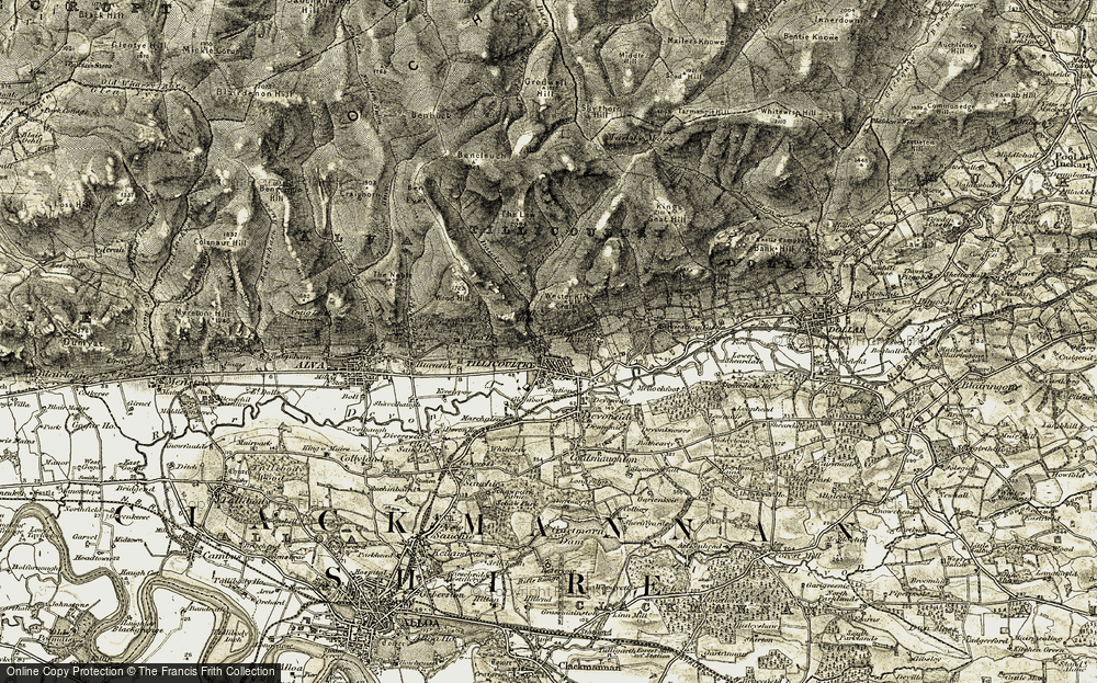 Old Map of Historic Map covering Woodland Park in 1904-1908