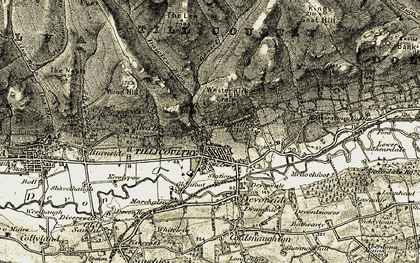 Old map of Tillicoultry in 1904-1908