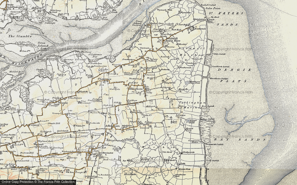Old Map of Historic Map covering Leggatts in 1898