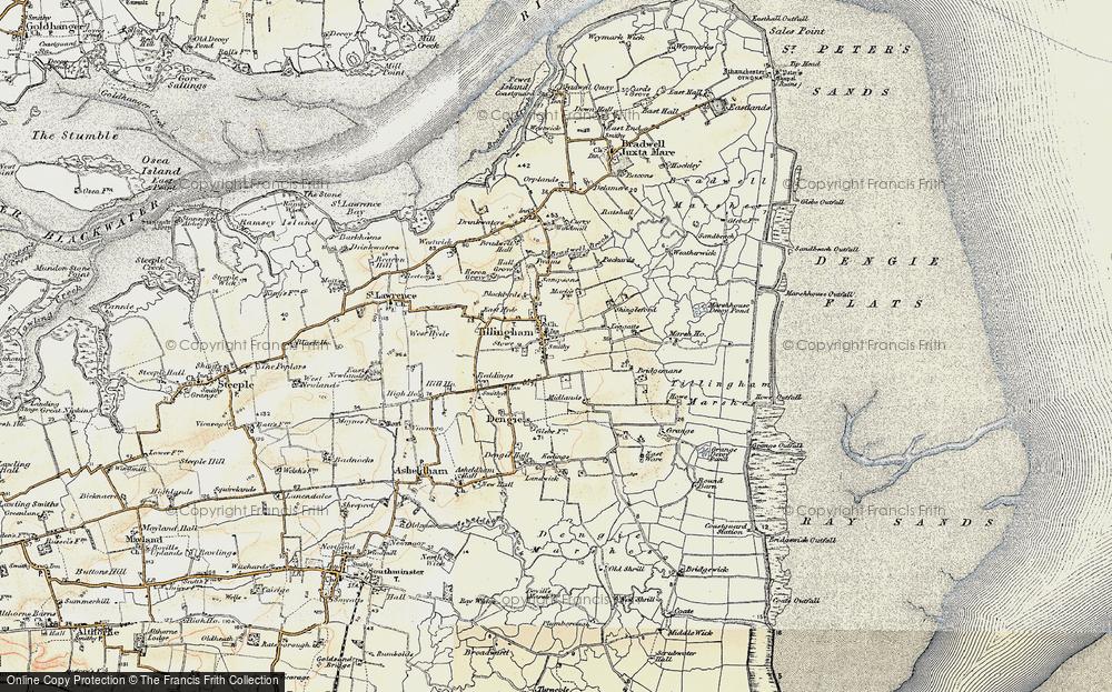 Old Map of Tillingham, 1898 in 1898