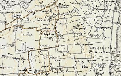Old map of Tillingham in 1898