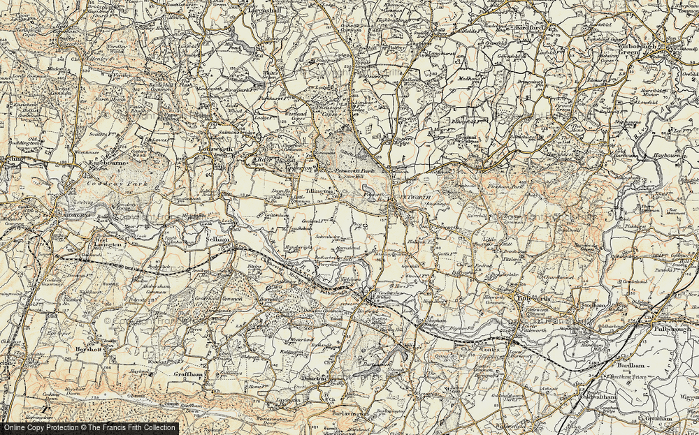 Old Map of Tillington, 1897-1900 in 1897-1900