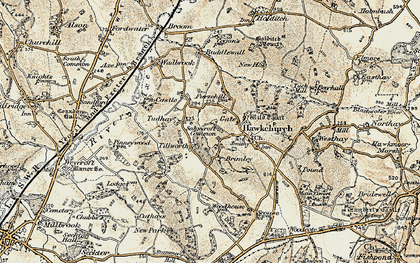 Old map of Tillworth in 1898-1899
