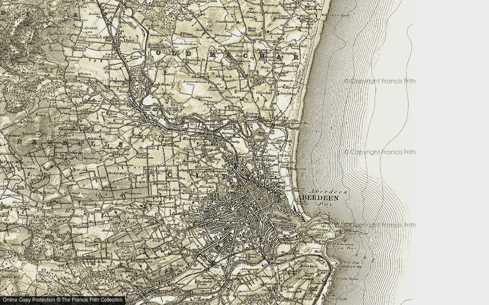 Old Map of Tillydrone, 1909 in 1909