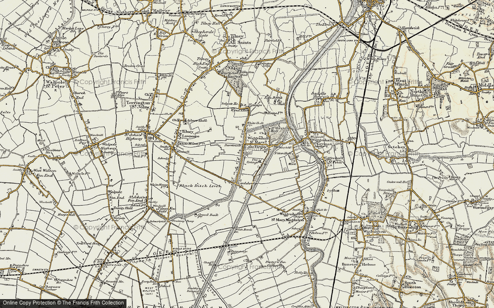 Old Map of Tilney cum Islington, 1901-1902 in 1901-1902