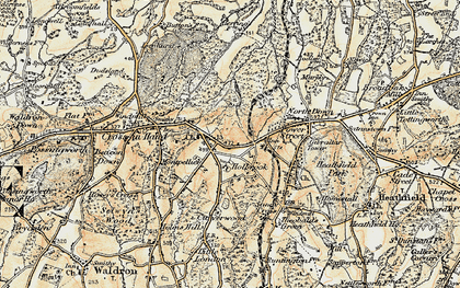 Old map of Tinkers Hatch in 1898
