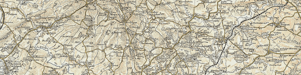 Old map of Tilsop in 1901-1902