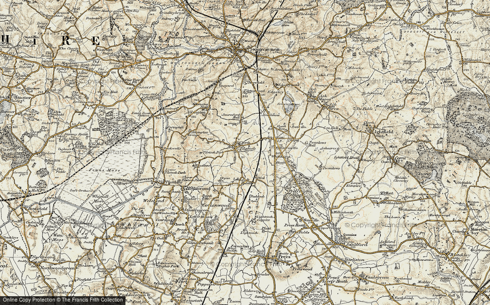 Old Map of Tilstock, 1902 in 1902