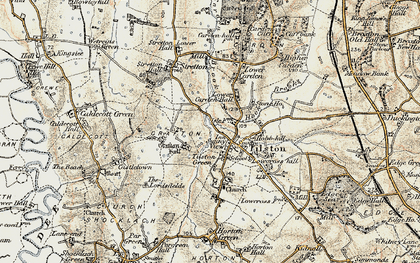 Old map of Tilston in 1902