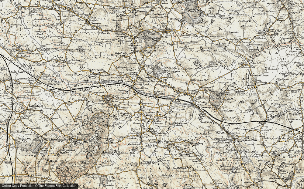 Old Map of Tilstone Bank, 1902-1903 in 1902-1903