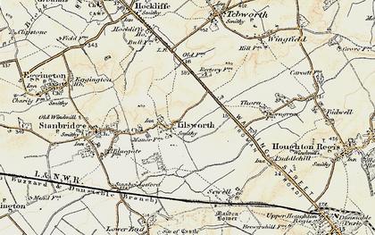 Old map of Tilsworth in 1898-1899