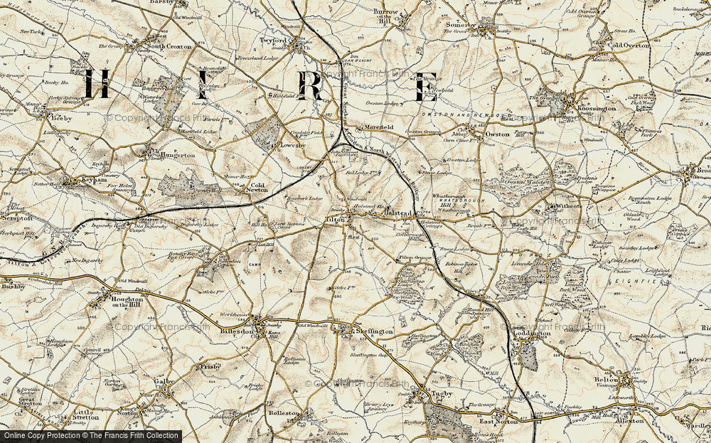 Old Map of Tilton on the Hill, 1901-1903 in 1901-1903