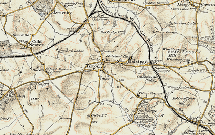 Old map of Tilton on the Hill in 1901-1903