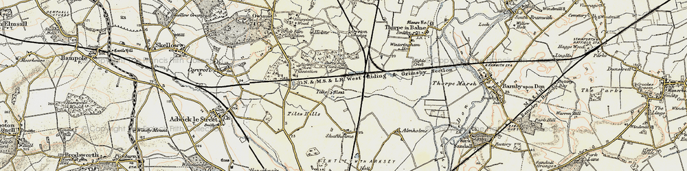 Old map of Tilts in 1903