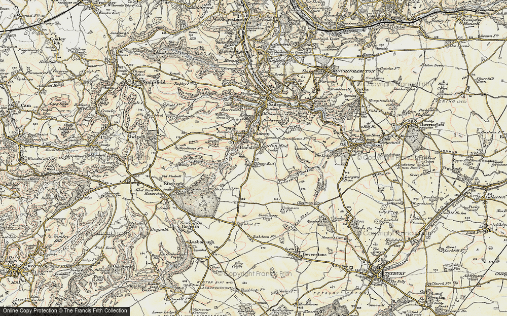Old Map of Tiltups End, 1898-1900 in 1898-1900