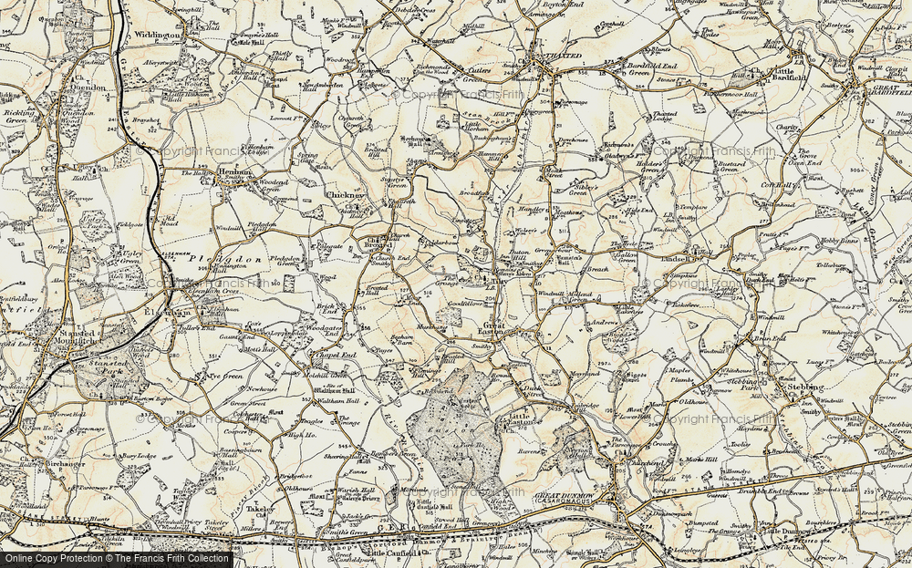 Old Map of Historic Map covering Tingates in 1898-1899