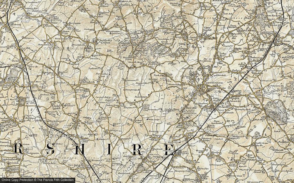Old Map of Timberhonger, 1901-1902 in 1901-1902