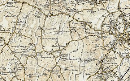 Old map of Timberhonger in 1901-1902