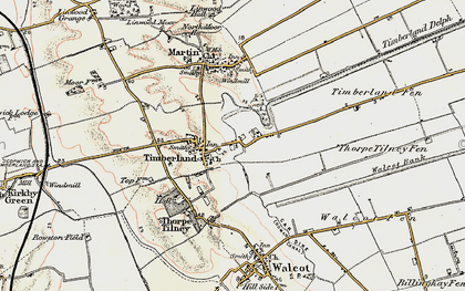 Old map of Timberland in 1902-1903
