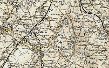 Old map of Timbersbrook in 1902-1903