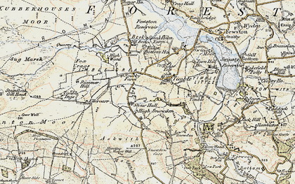 Old map of Timble Gill Beck in 1903-1904